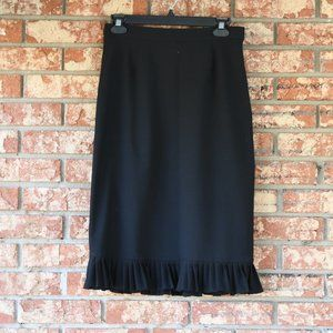 Doncaster Collection Black Wool Skirt